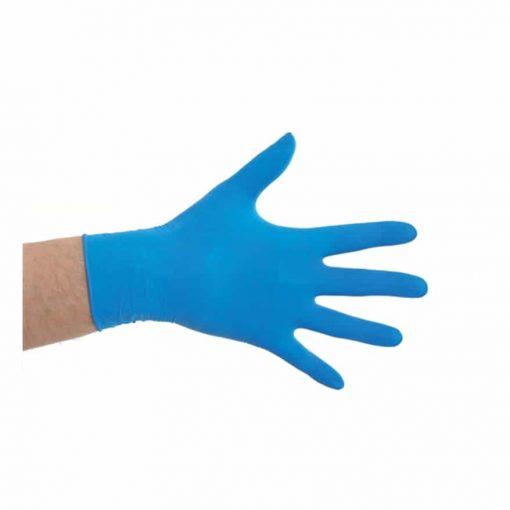 Manusi de unica folosinta alimentare, albastre, din Latex