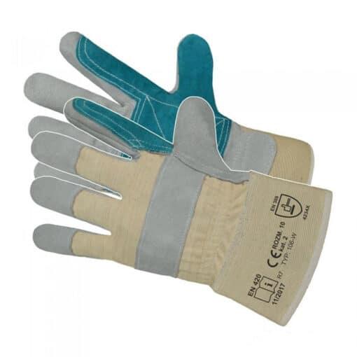 Manusi de protectie din piele lacatus cu dublura in palma