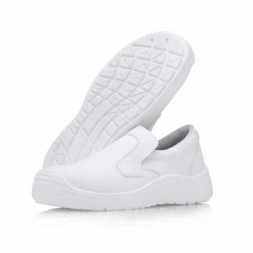 Pantofi de protectie albi cu bombeu compozit WhitePro S2 SRC