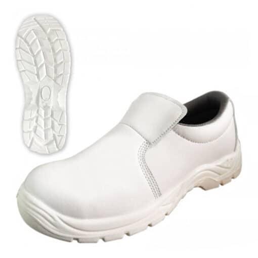 Pantofi de protectie albi din microfibra industria alimentara