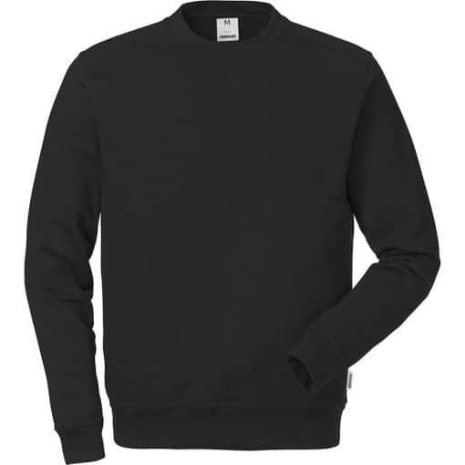 Bluza neagra din bumbac cu maneca lunga 7016 SMC