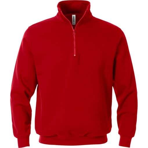 Bluza rosie cu fermoar si maneca lunga 1737 SWB
